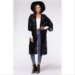Kendall & Kylie Velvet Kimono